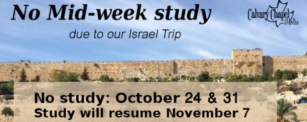 No Midweek Study – Israel